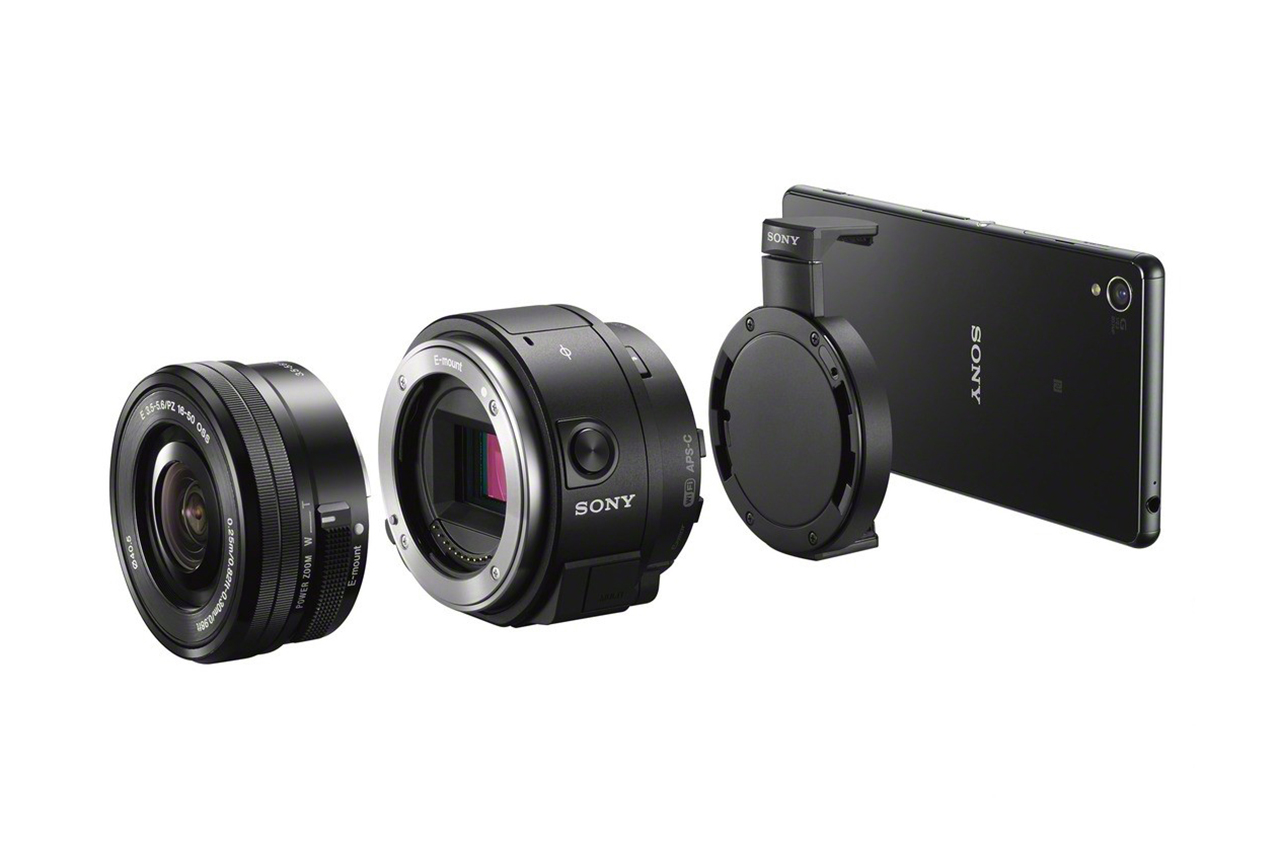 sony officially unveils its qx1 qx30 lens style cameras