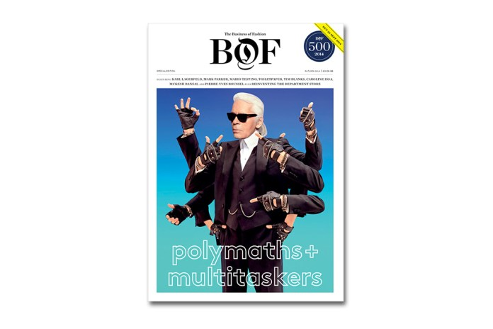 "The Business of Fashion ""Polymaths & Multitaskers"" Issue featuring Karl Lagerfeld"