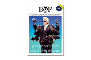 """The Business of Fashion """"Polymaths & Multitaskers"""" Issue featuring Karl Lagerfeld"""
