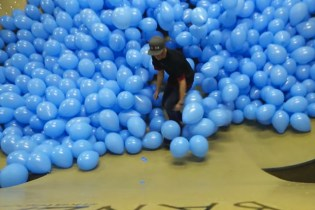 This is What Skateboarding Through 5000 Balloons Looks Like