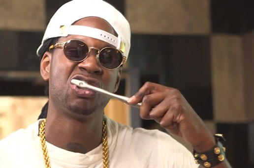 2 Chainz Tries Out the Reinast $5K Toothbrush with GQ