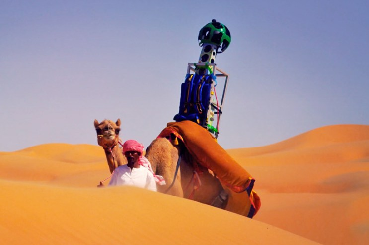 A Camel Captures the Liwa Desert for Google Street View