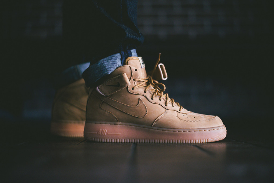 """A Closer Look at the Nike Air Force 1 Mid """"Wheat"""""""