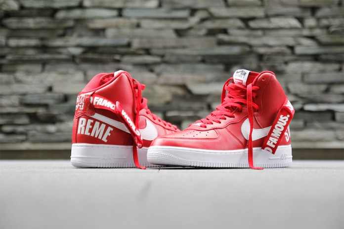 """A Closer Look at the Supreme x Nike 2014 Fall/Winter Air Force 1 """"Red"""""""