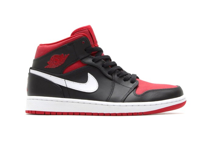 Air Jordan 1 Mid Black/White-Gym Red