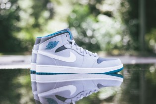 Air Jordan 1 Mid Wolf Grey/Tropical Teal