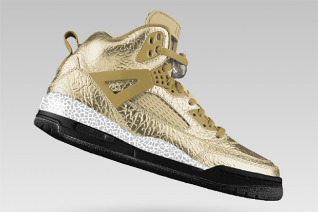 NIKEiD Adds Metallic Gold and Silver Options to the Air Jordan Spiz'ike