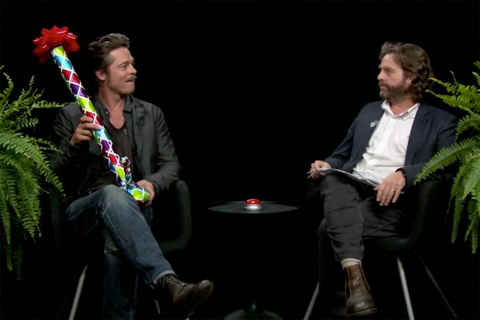 Brad Pitt Joins  Zach Galifianakis on 'Between Two Ferns'
