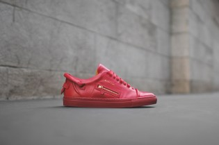 Buscemi 50mm Low Top Red Sneaker