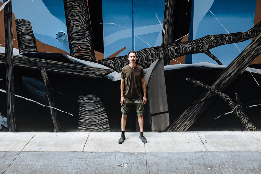 "Dave Kinsey's ""The Z Project"" Mural Transforms Old Parking Garage"