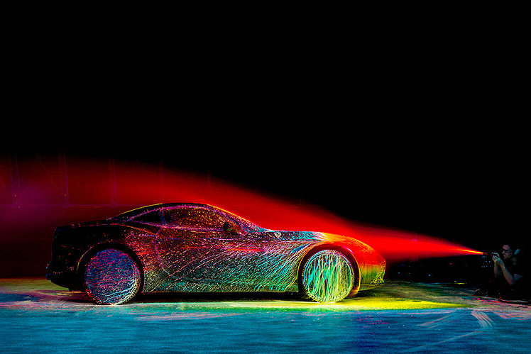 Ferrari's California T Receives a UV Paint Job