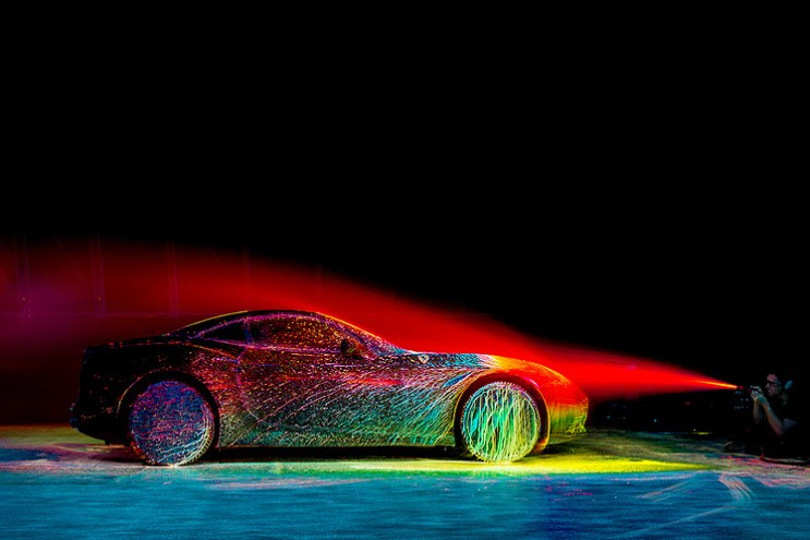 Ferrari's California T Receives a UV Paint Job