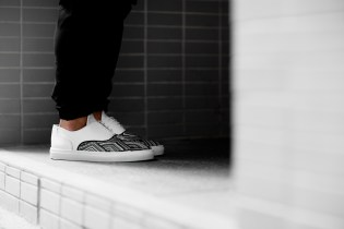 Filling Pieces 2014 Fall/Winter Mountain Cut Wired Woven Leather Sneakers