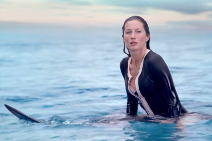 Gisele Bündchen Surfs in New Chanel No. 5 Film Directed by Baz Luhrmann