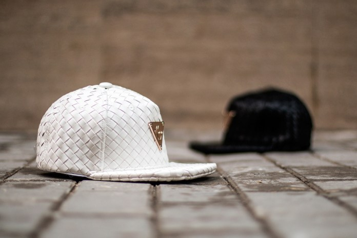 Hater Snapback Introduces the Grain Leather Intrecciato collection