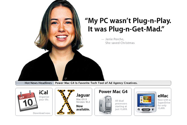 HUH. Looks Back at Apple's Website Changes Since 1997