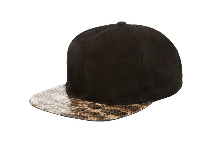 Just Don 2014 Fall/Winter Leather & Python Snapback Collection