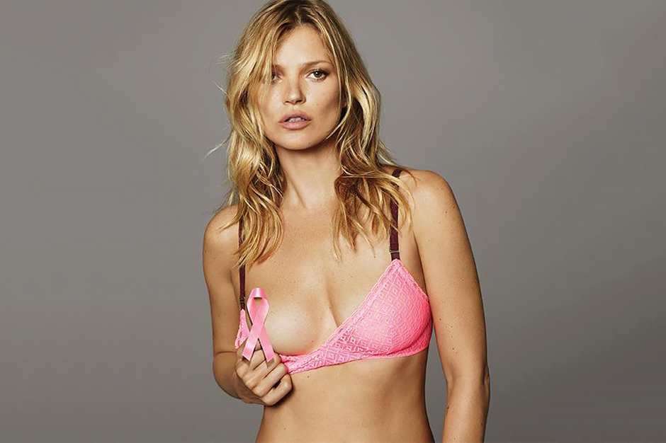 Kate Moss Teases in New Breast Cancer Awareness Campaign