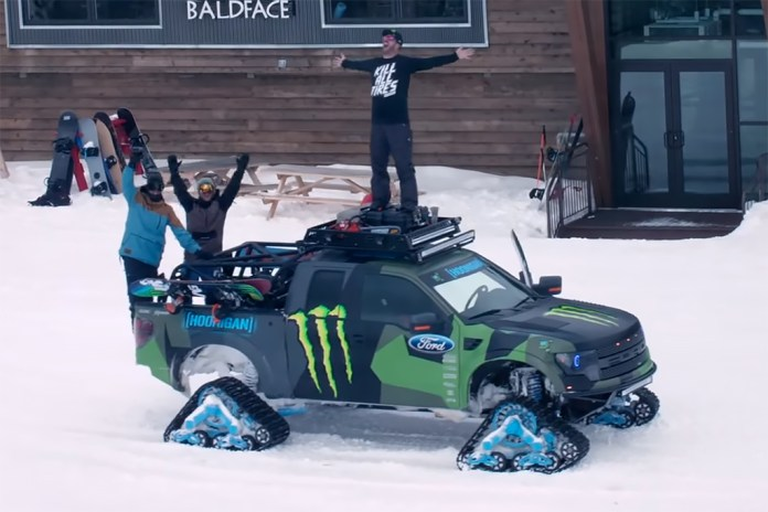 Ken Block's Ford F-150 RaptorTRAX Shredfest with Zak Hale & Ethan Deiss
