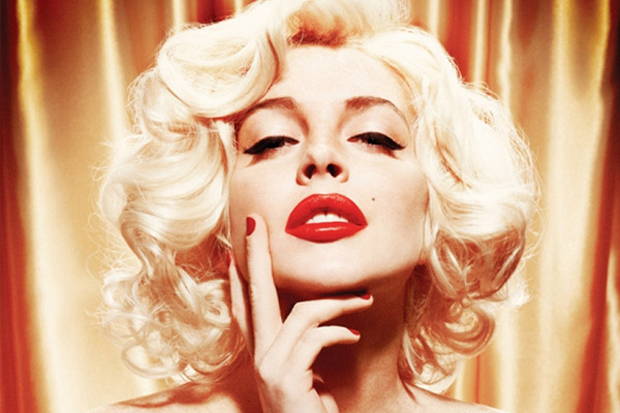 Lindsay Lohan as Marilyn Monroe for Playboy