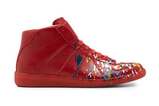 Maison Martin Margiela Red Pollock Mid-Top Replica Sneaker