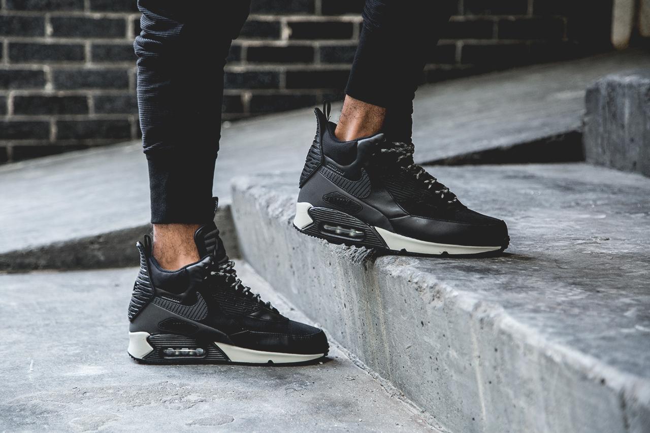 Nike 2014 Air Max 90 Sneakerboot Black/Grey-White