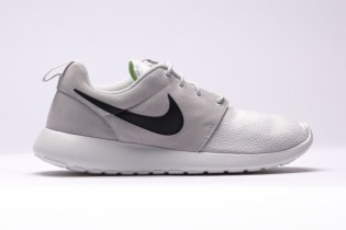 Nike Roshe Run Suede Ash-Grey/White-Volt