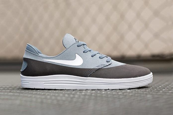 Nike SB Lunar One Shot Black/Grey Suede