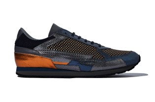 Raf Simons 2014 Fall/Winter Blue Metallic Runners