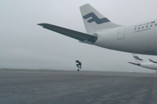 Skateboarders Turn Finland's Helsinki Airport into Personal Skatepark