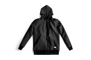 Stampd Black Perforated Neoprene Bomber Jacket and Hoodie