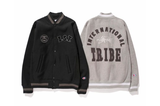 "Stussy x Champion Japan 2014 Fall/Winter WINDSTOPPER Reverse Weave ""I.S.T."" Varsity Jacket"