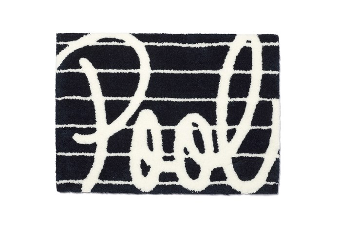 "the POOL aoyama ""Pool"" Logo Rug"