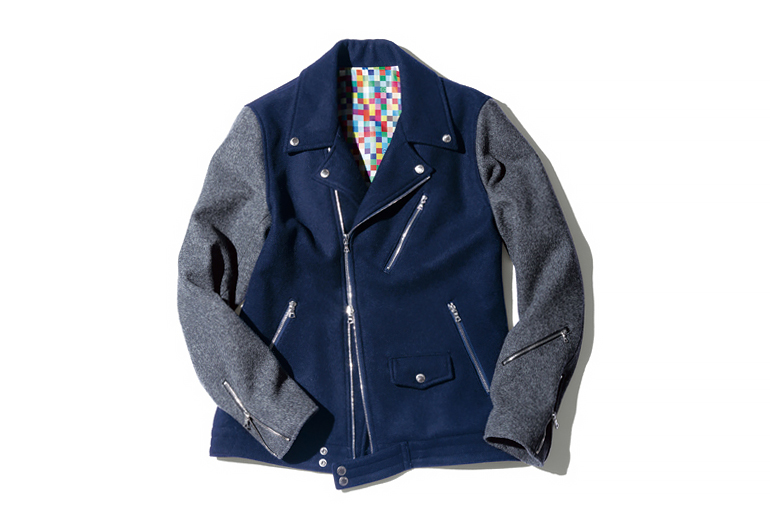 uniform experiment 2014 Fall/Winter Wool Melton Double Riders Blouson