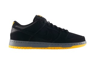 Nike SB Dunk Low Pro Black/University Gold