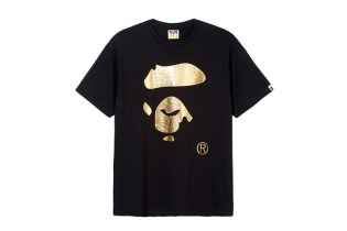 A Bathing Ape 2014 Fall/Winter Gold Face T-Shirt for Selfridges