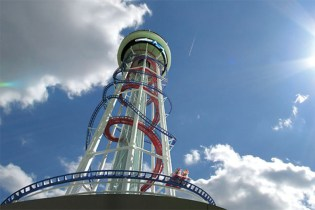 A Simulation Ride on the Skyscraper, the World's Tallest Roller Coaster