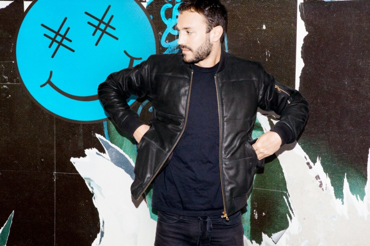 Brodinski x Surface to Air Leather Puffer Jacket