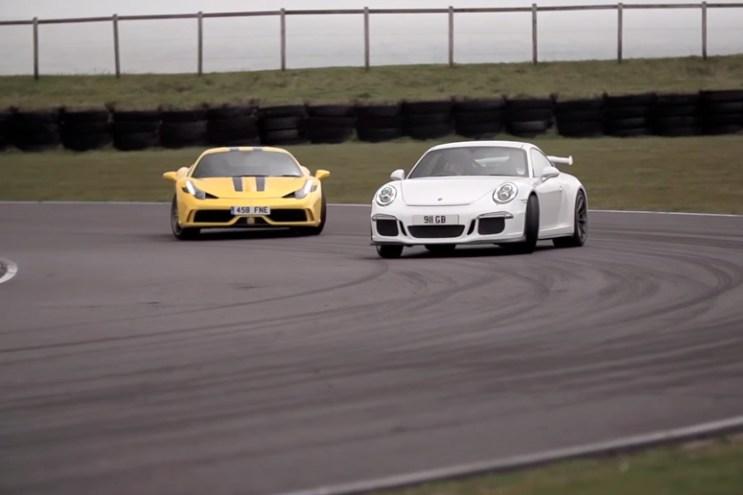 Chris Harris Pits the Ferrari 458 Speciale against the Porsche 911 GT3
