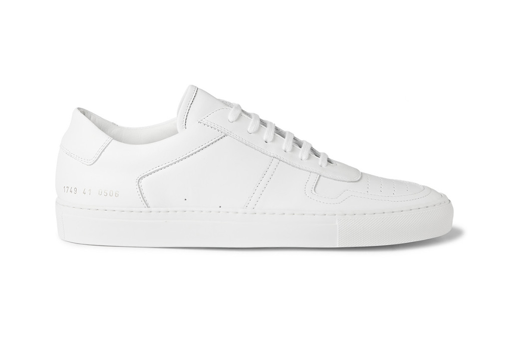 Common Projects White BBall Low Leather Sneakers