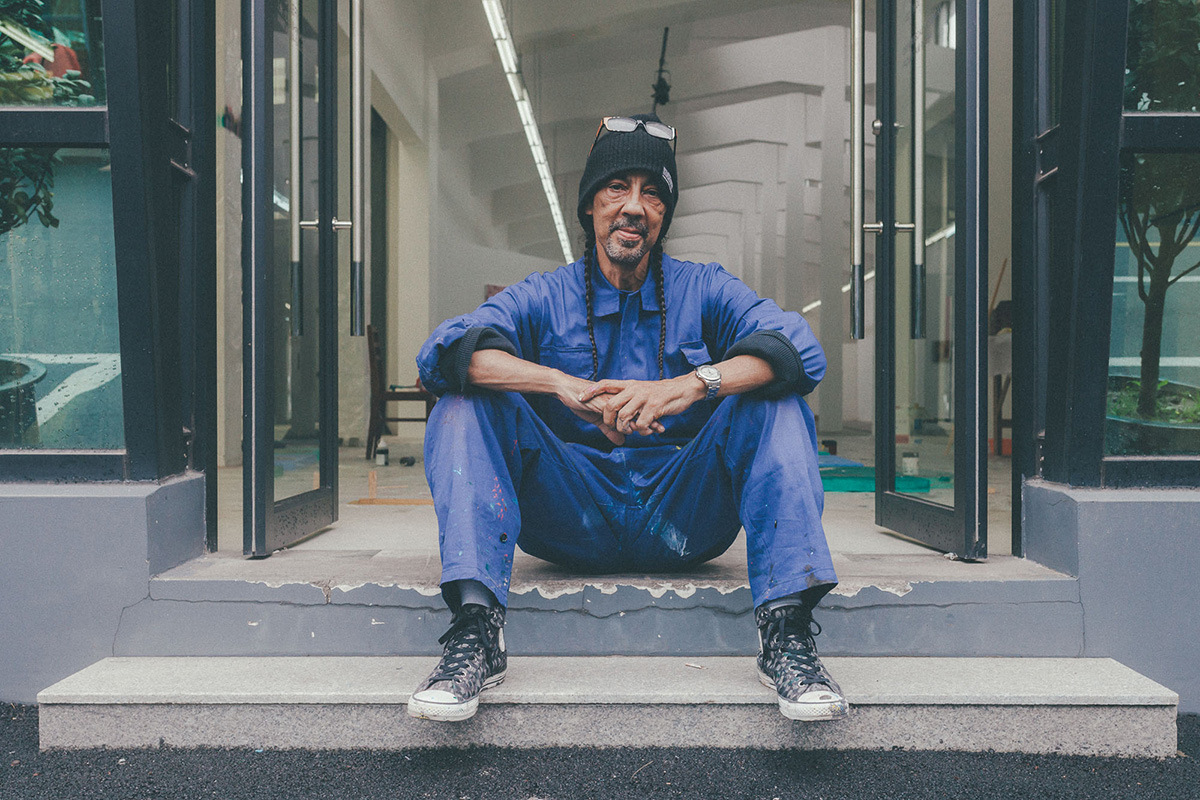 """Futura Talks his """"Kinetic Action"""" Solo Exhibition with Converse in Shanghai"""