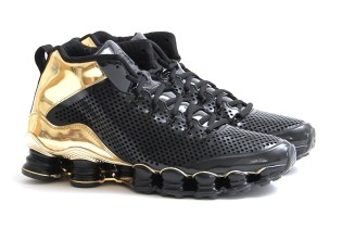Nike Shox TLX Mid SP Black/Black-Metallic Gold