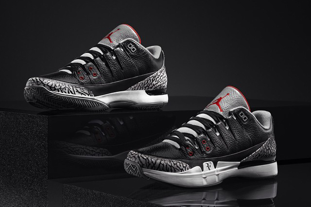 "NikeCourt Zoom Vapor AJ3 ""Black Cement"""