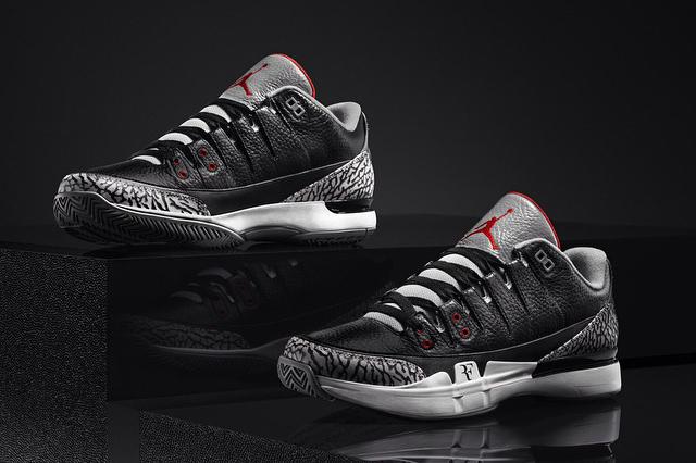"NikeCourt Zoom Vapor AJ3 ""Black Cement"""