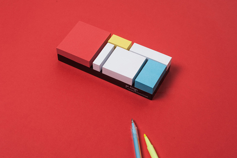 Piet Mondrian-inspired Sticky Notes by PA Design