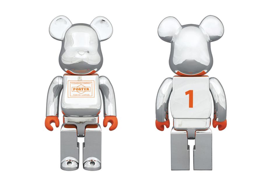 Porter x Medicom Toy Silver-Plated 400% Bearbrick