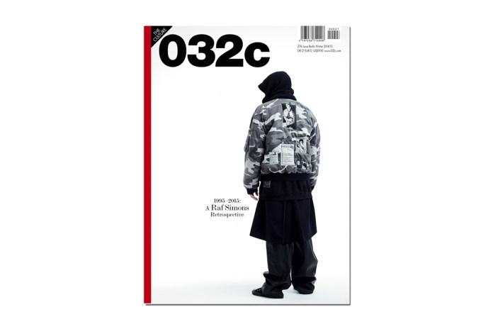 Raf Simons Retrospective for 032c Magazine Issue #27