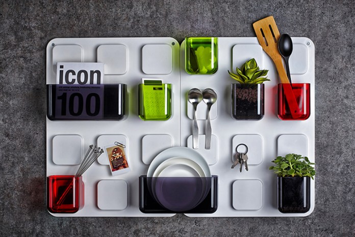 Store Everyday Items with Pablolab's U.tile Magnetic Wall Organizer