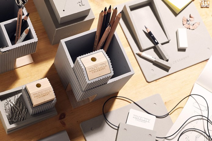 Tripleliving Constructs a Miniature City Stationary Series from Soft Concrete