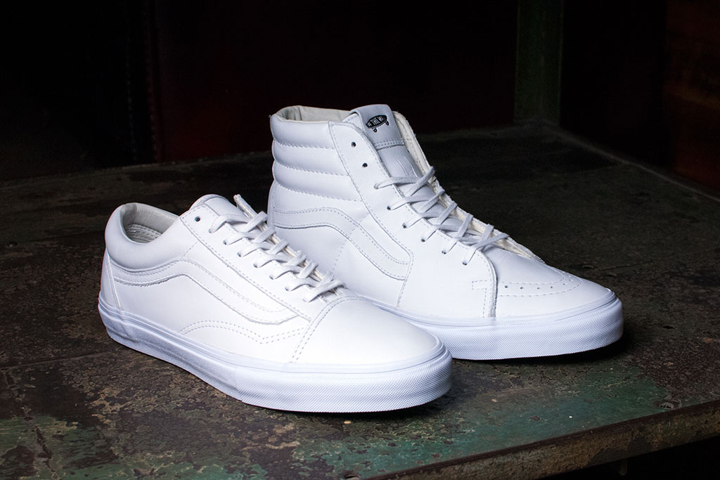 Vault by Vans Releases All-White Old Skool and Sk8-Hi LX ...